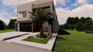 Modern Front And Backyard Design Done In Parkland, FL. (Zen Design)