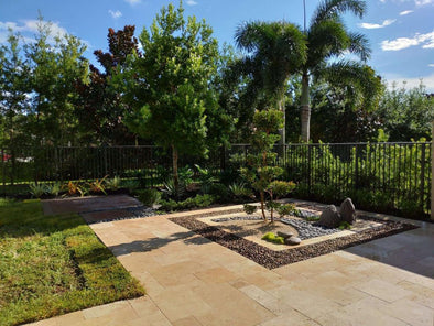 Zen Backyard Landscaping In Boynton Beach