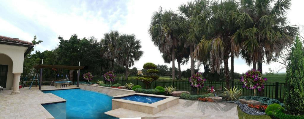 Backyard Landscape Design And Installation In Parkland Golf & Country Club