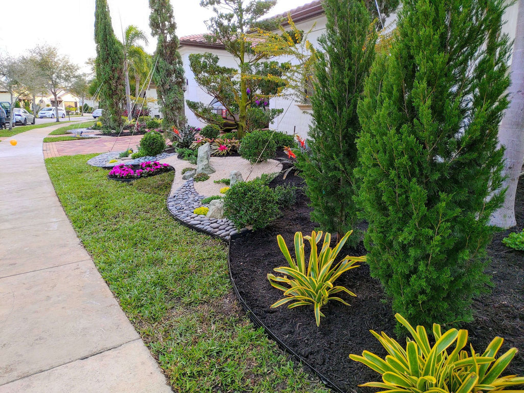 Amazing Front Yard Landscape Design Done In Parkland (Parkland Golf & Country Club)