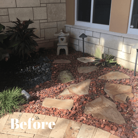 Front Yard Rock Landscaping Design (Lauderdale By The Sea