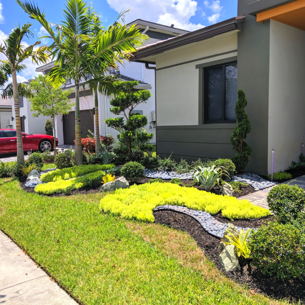 Stunning New Front Yard Landscaping In Parkland, FL (Cascata)