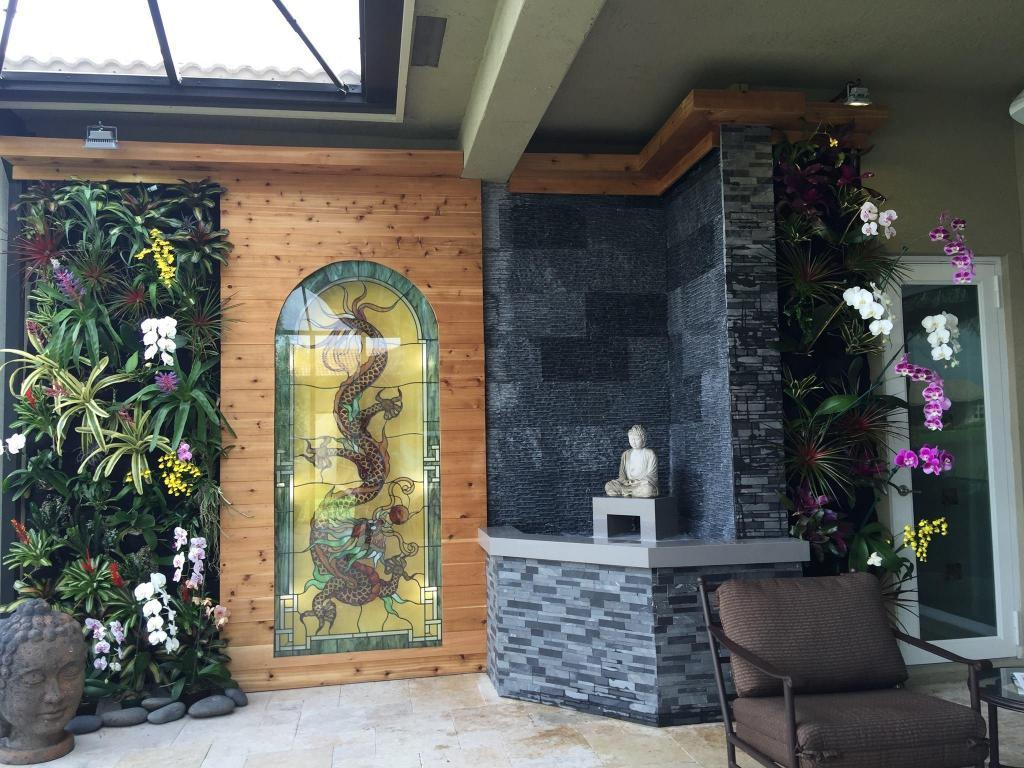 Japanese Themed Backyard Installation In Boynton Beach