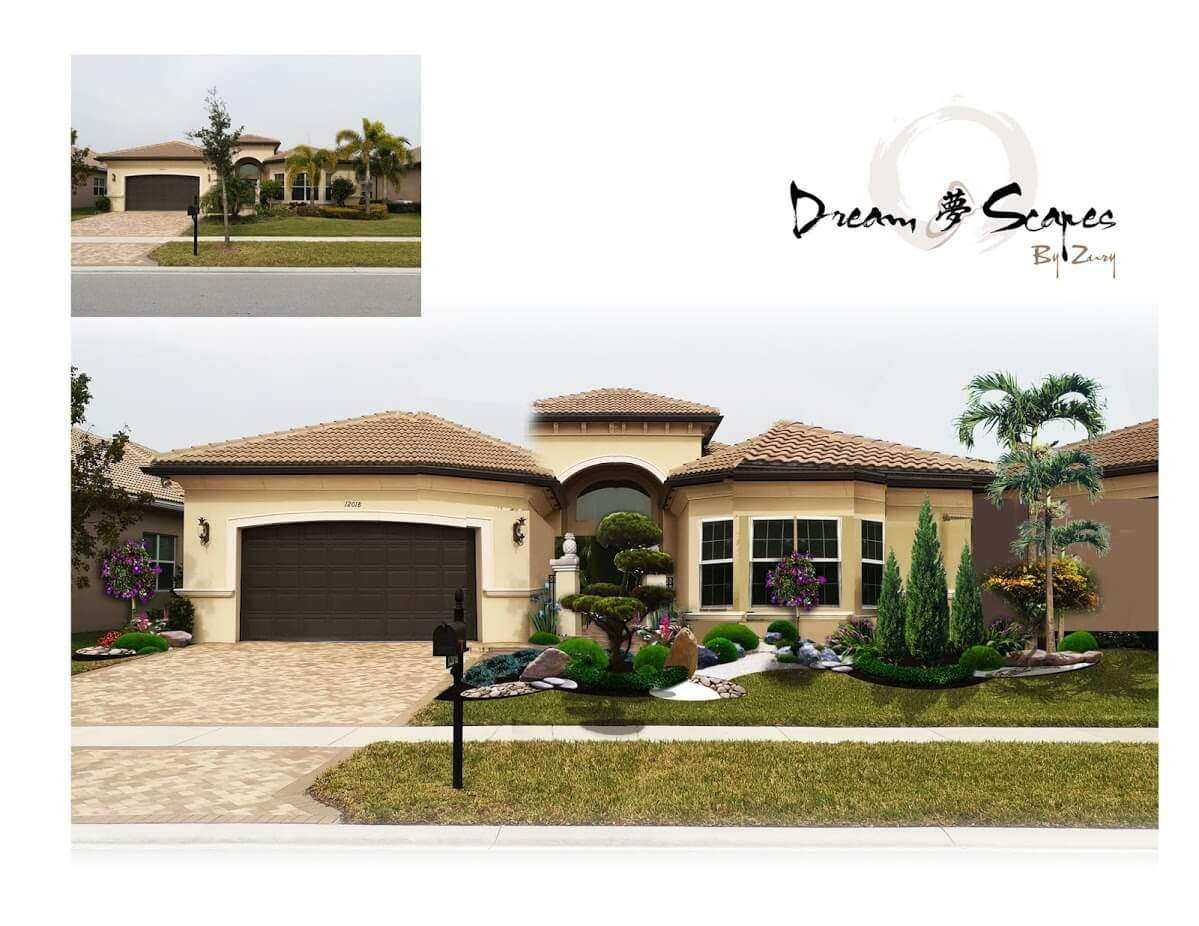 Front Yard Landscaping Installation In Boynton Beach (Design)