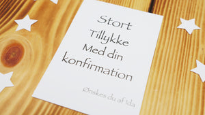 Konfirmationstelegram / Kors