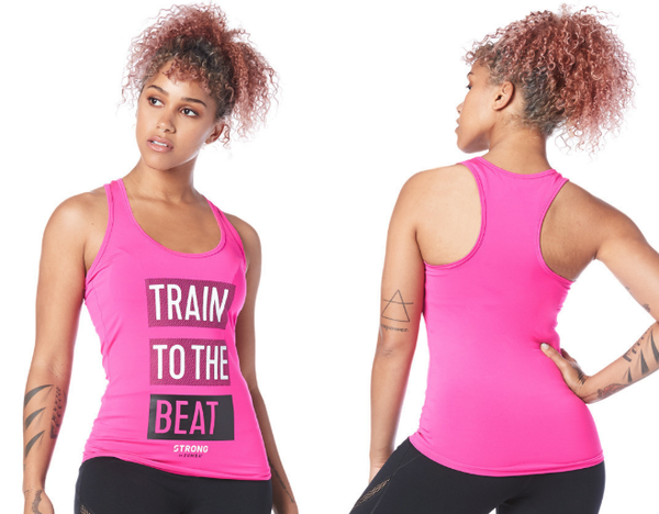 Zumba Fitness STRONG By Zumba Train to the Beat Racerback - Shocking Pink