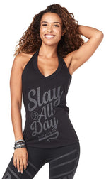 Zumba Fitness All Day Halter - Bold Black