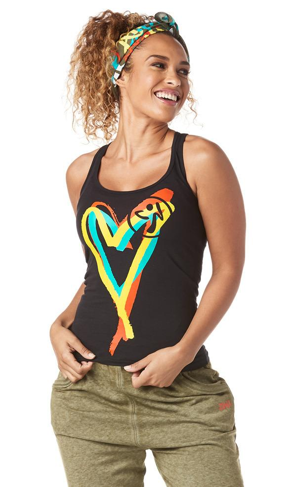 Zumba Fitness Be About Love Racerback - Bold Black