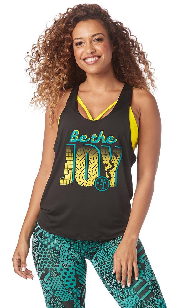 Zumba Fitness Be The Joy Loose Tank - Bold Black