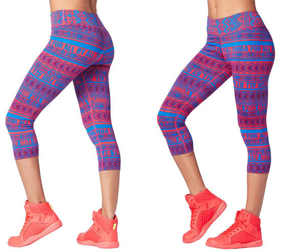 Zumba Fitness Zumba For All By All Capri Leggings - Pink Happy