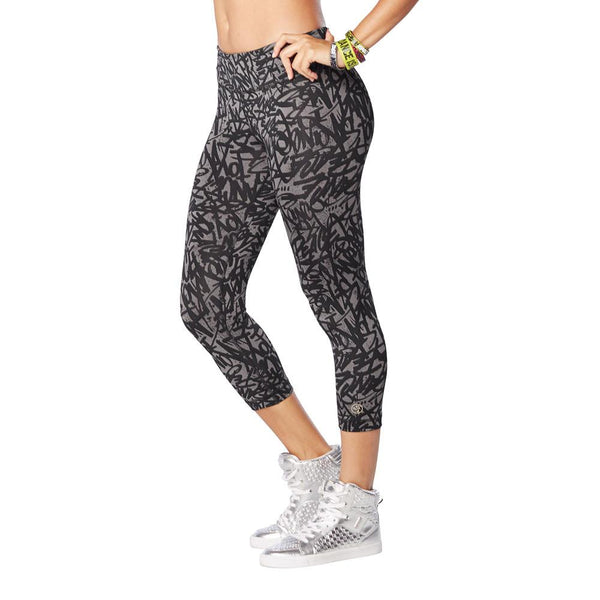 Zumba Fitness Funked Up Perfect Capri Leggings - Go For Gunmetal