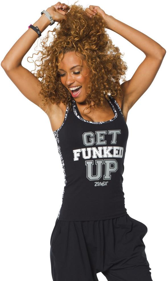 Zumba Fitness Funk It Up Racerback - Back to Black