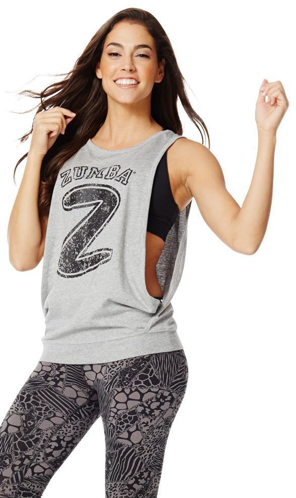 Zumba Fitness Hangin' Loose Bubble Tank - Thunderin' Gray