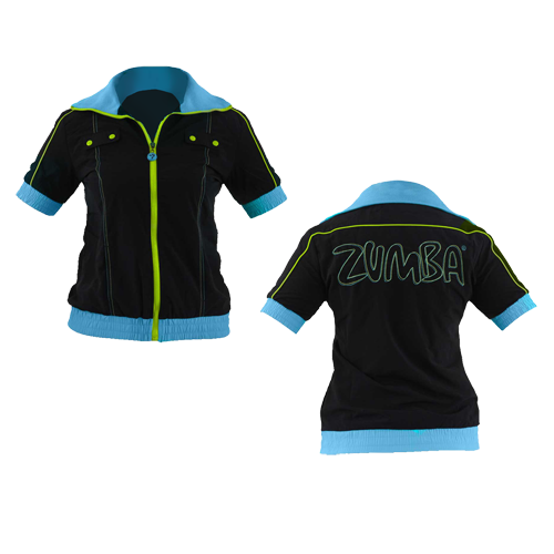 Zumba Fitness Iconic Cropped Jacket - Black