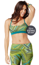 Zumba Fitness Kaleid-Oh-Scope Bra - Zumba Green (CLOSEOUT)