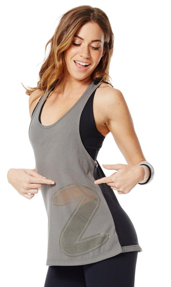 Zumba Fitness Loose Fitting Racerback - Go For Gunmetal