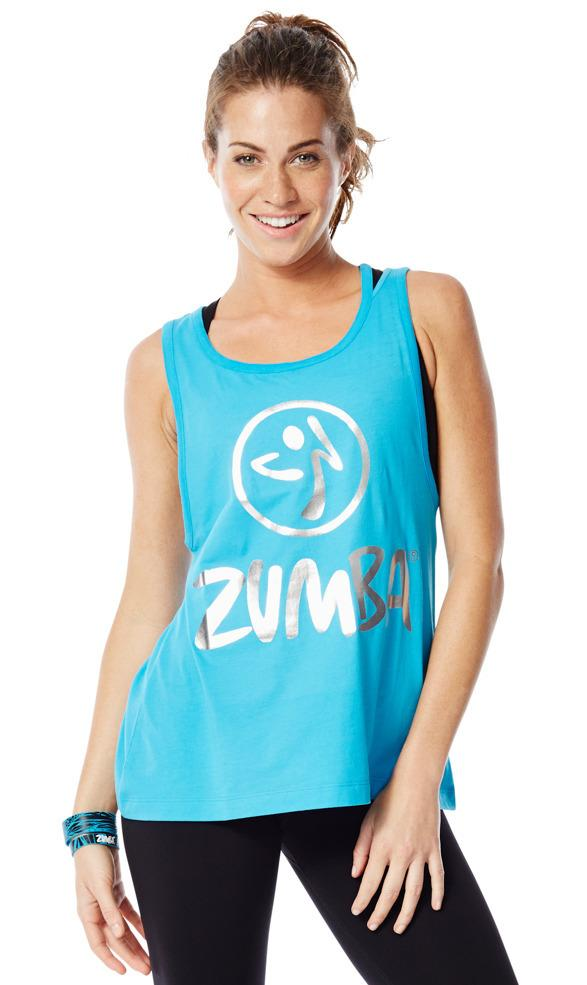 Zumba Fitness Love Me or Loose Me Tank - Bangin Blue