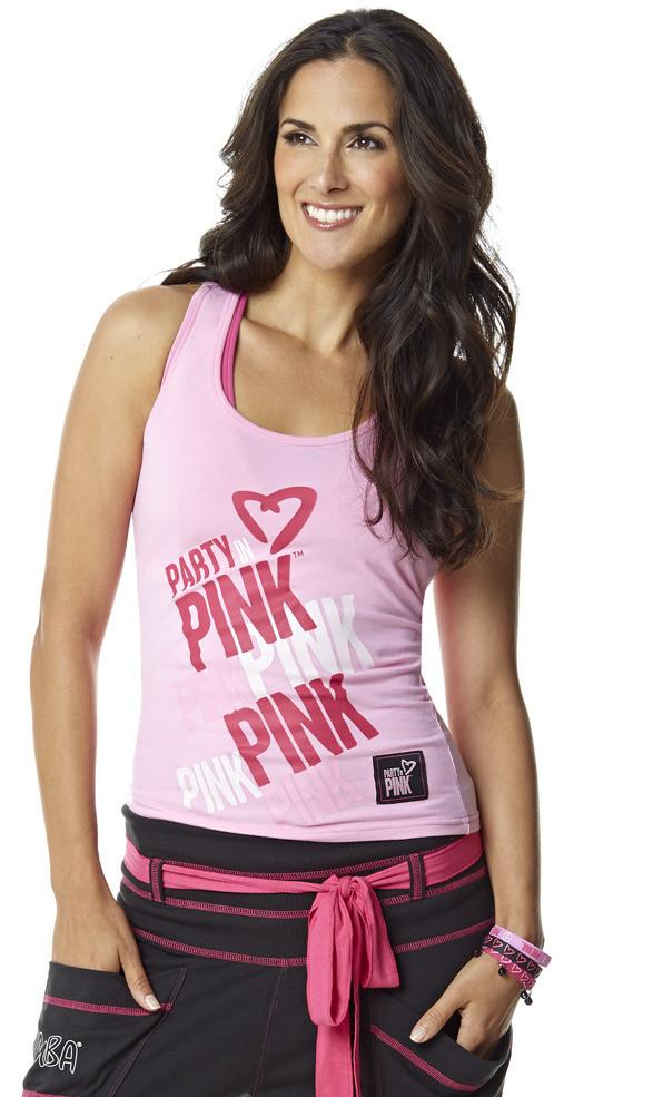 Zumba Fitness Party In Pink Racerback