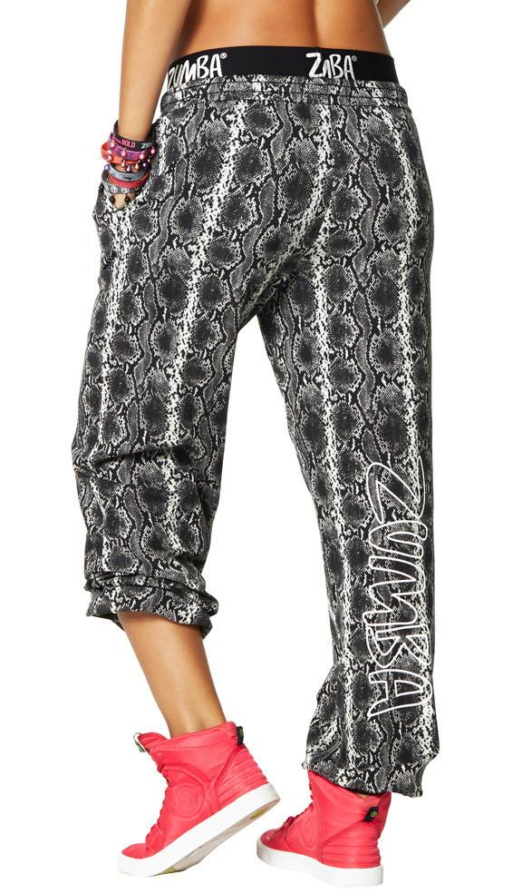 Zumba Fitness Rep My Style Jammin' Jersey Pants - Grey Scale