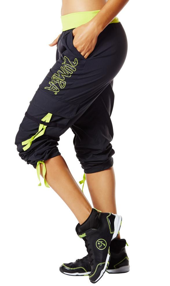 Zumba Fitness Soft-N-Stretch Cargo Pants - Sew Black