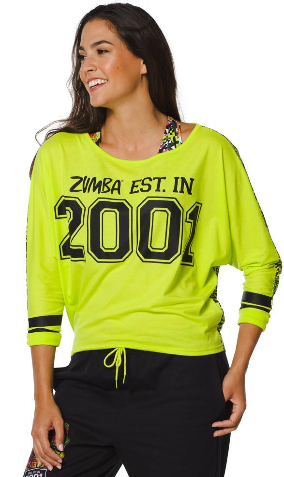 Zumba Fitness Team Zumba Dolman Top - Zumba Green