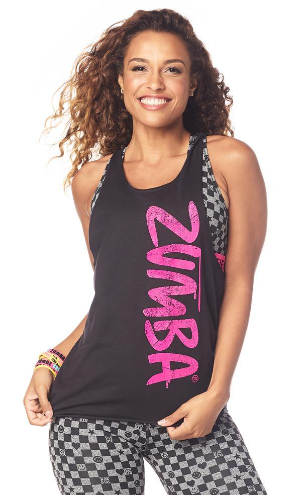 Zumba Fitness Game Changer Loose Tank - Bold Black