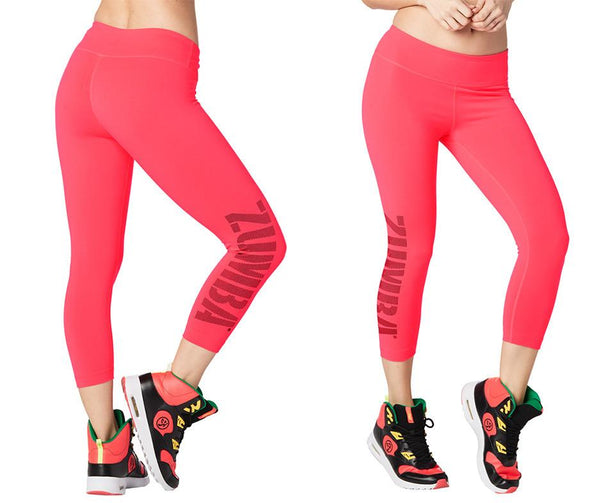 Zumba Fitness Zumba For All Perfect Capri Leggings - Pink Happy