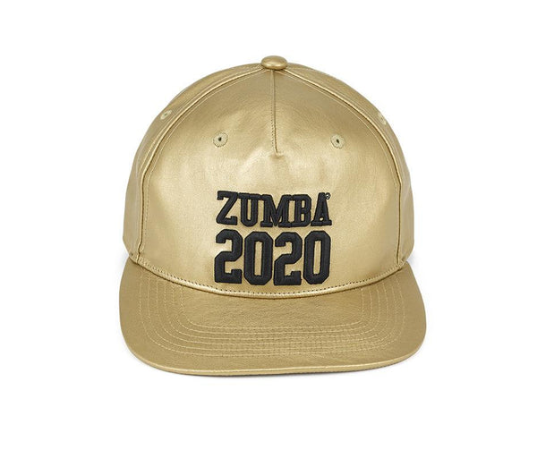 Zumba Fitness 2020 Metallic Snapback Hat - Gold