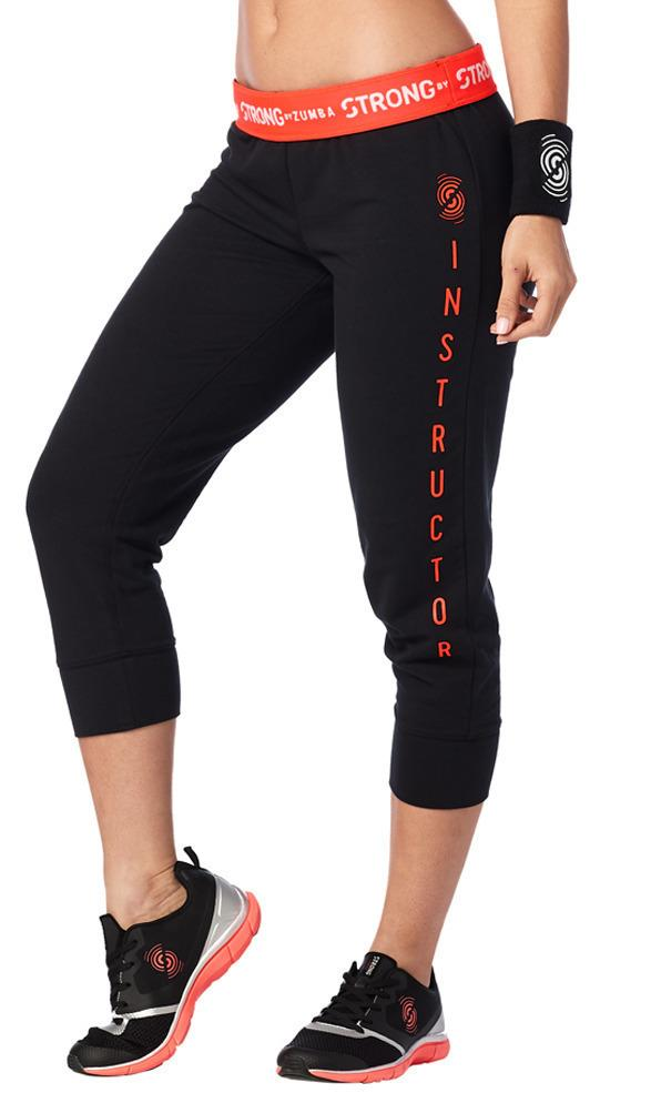 Zumba Fitness STRONG By Zumba Instructor Cropped Skinny Sweatpants - Bold Black