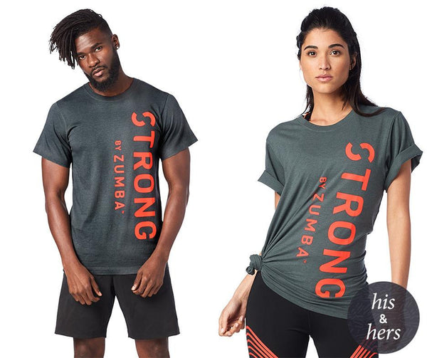 Zumba Fitness STRONG By Zumba Instructor Unisex Tee T-Shirt - Dark-N-Dirty Slate