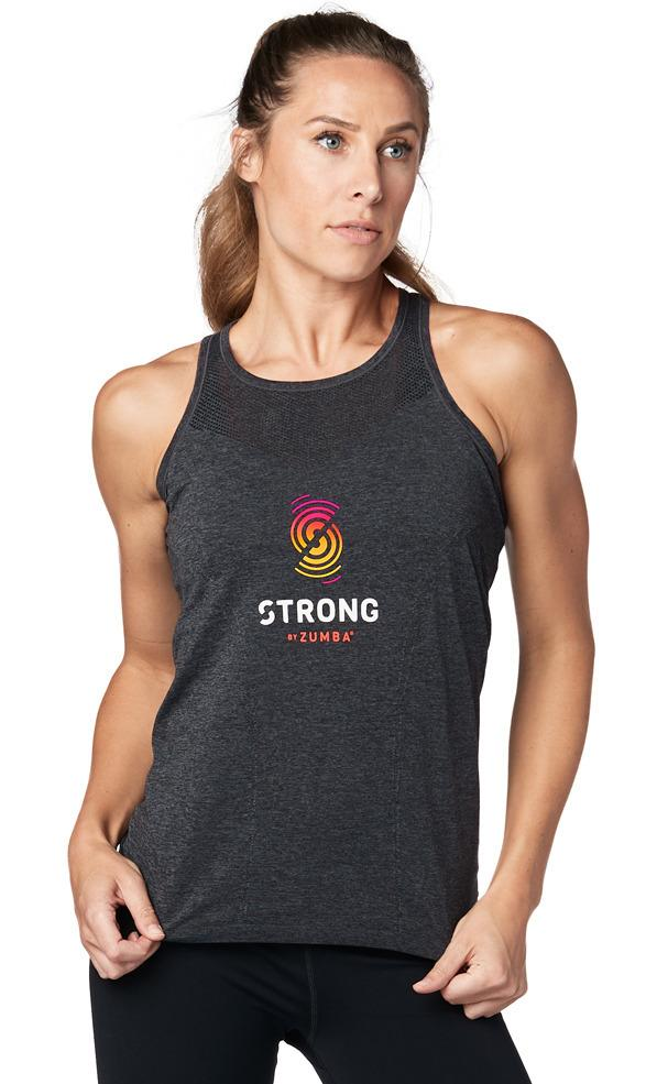 Zumba Fitness STRONG By Zumba Seamless Tank - Bold Black