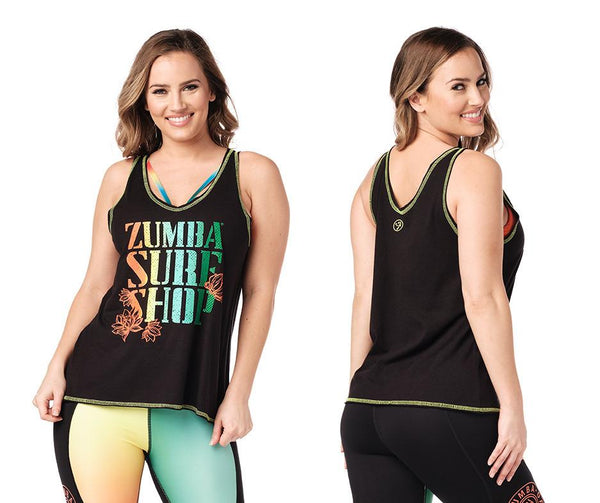 Zumba Fitness Surf Shop Tank - Bold Black