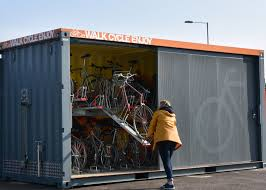 Shipping Containers Find Use as Secure Bicycle Hubs