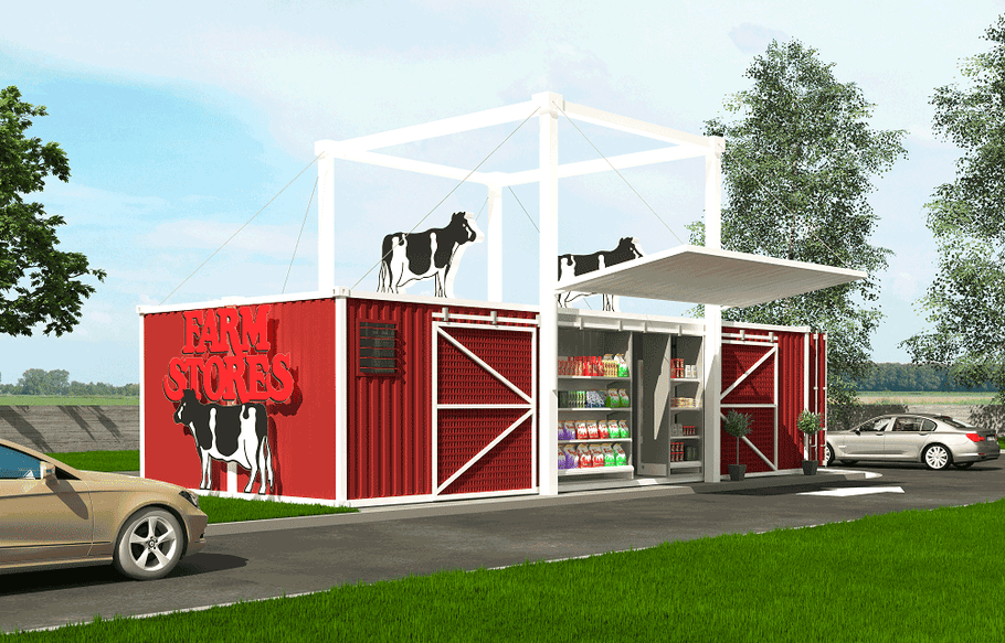 Shipping Containers Are Finding New Uses as Drive-Thru Convenience Stores