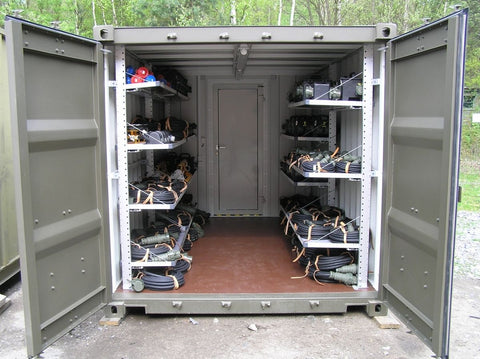 Shipping Container Used as a Portable Storage Unit