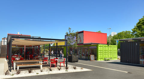 Shipping Container Restaurants and Shopping Center in Indianapolis, Indiana