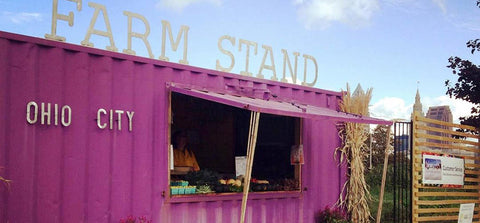 Shipping Container Produce Stands and Farmers Market.