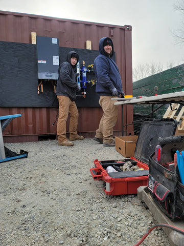 Shipping Container Workstation