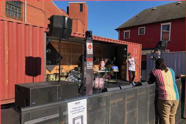 Shipping Container Used as a Stage