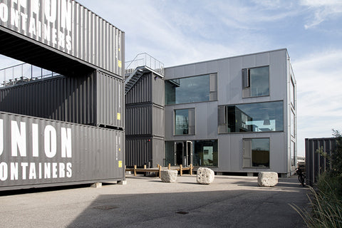 Shipping Container Office Building designed with 20 ft containers