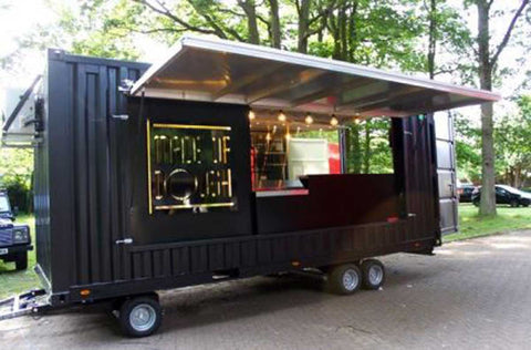Shipping Container Portable Food Stand