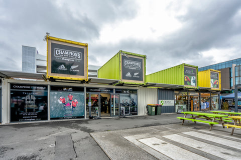 Shipping Containers become retail pop-up shops.