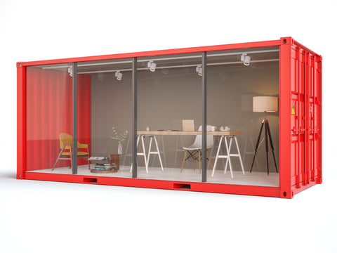Mobile Shipping Container Office Building