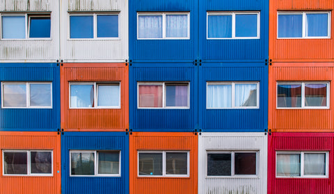 Shipping Container Hotel in Rostock, Germany