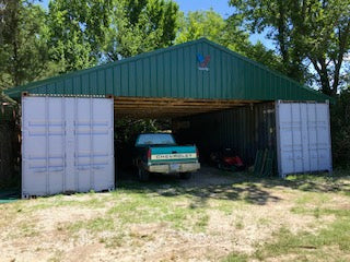 Shipping Container Storage Shed