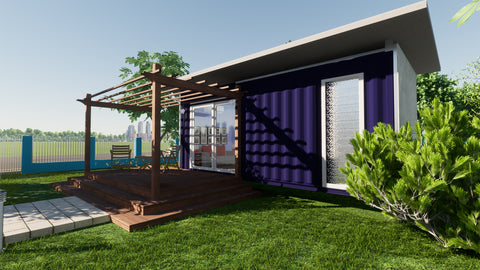 Shipping Container Home in Suburbs