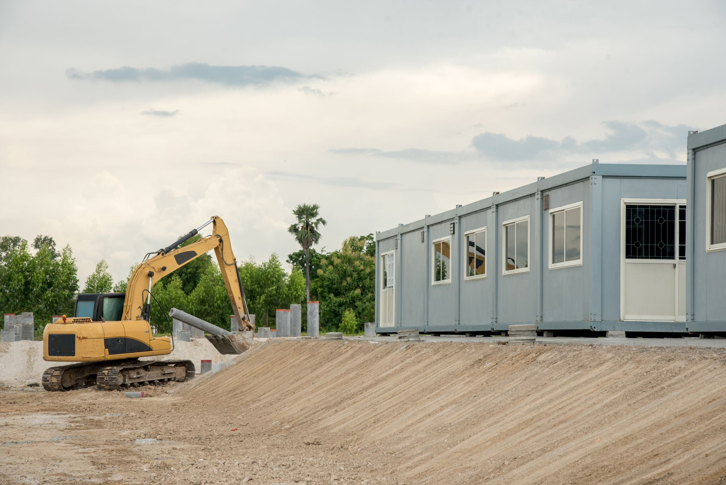 Shipping Containers for Storage in Construction