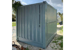 10 ft Collapsable New Shipping Container (10CLNEW) Back View