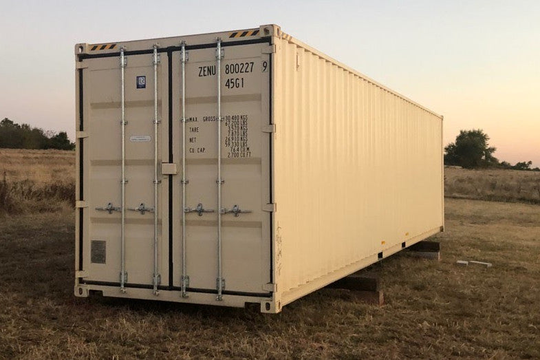 40 ft High Cube 1 Trip (40HC1TRIP) Shipping Container Right Angle View