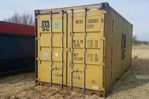 20 ft Standard Cargo Worthy (20STCW) Shipping Container Angle View